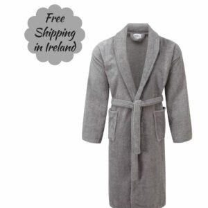 SII grey toweling robe