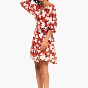 red_dress_allover_print_front_garcia_ireland_womens_boutique_2048x