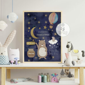 Mock up posters in child room interior, posters on empty white w