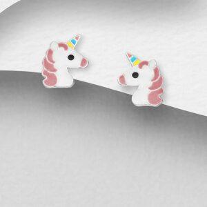 Enamel Unicorn Earrings