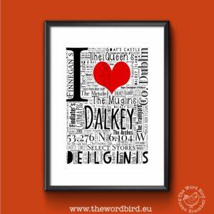 I LOVE DALKEY The Word Bird