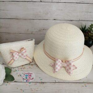 Hollis Summer Hat Cream tartan