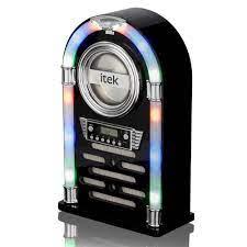 iTek I60018CD Bluetooth Multi Functional LED Jukebox Speakers Radio, CD player