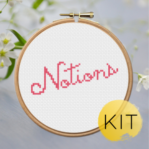 Notions-crossstitch-kit