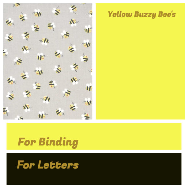 Yellow Buzzy Bee's Bunting