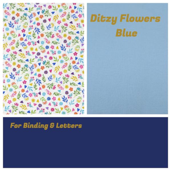Ditzy Flowers Blue