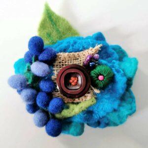 blu brooch