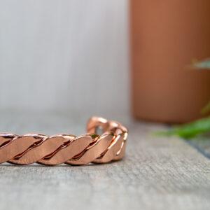 Ladys Mantle Copper Bracelet