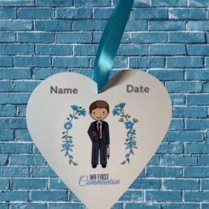Communion boy_blue background