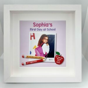 First_day_school_girl_personalised_photo