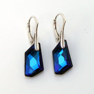 Silver-Earrings-DeArt-Bermuda-Blue-Swarovski-crystals-Retha-Designs