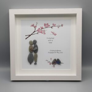Personalised Pebble Art/It started with a kiss