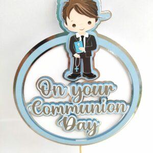 Communion Cake Topper Boy 2