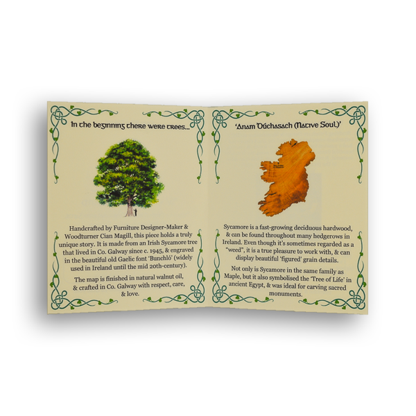 Wooden Map of Ireland Story Card