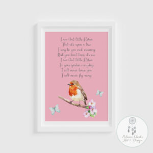 robin print pink