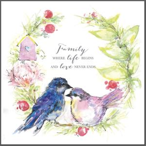 Family Wreath Watercolour print