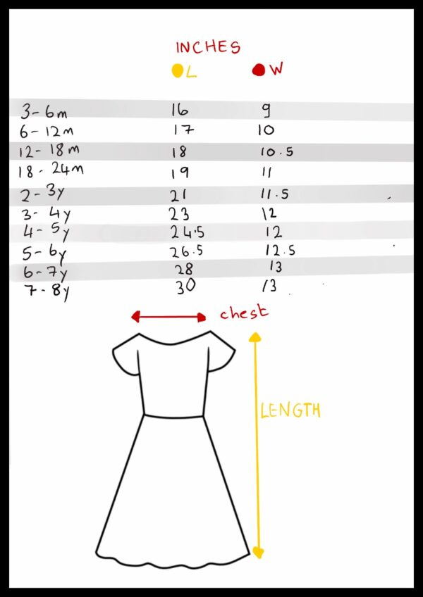 Dress size guide