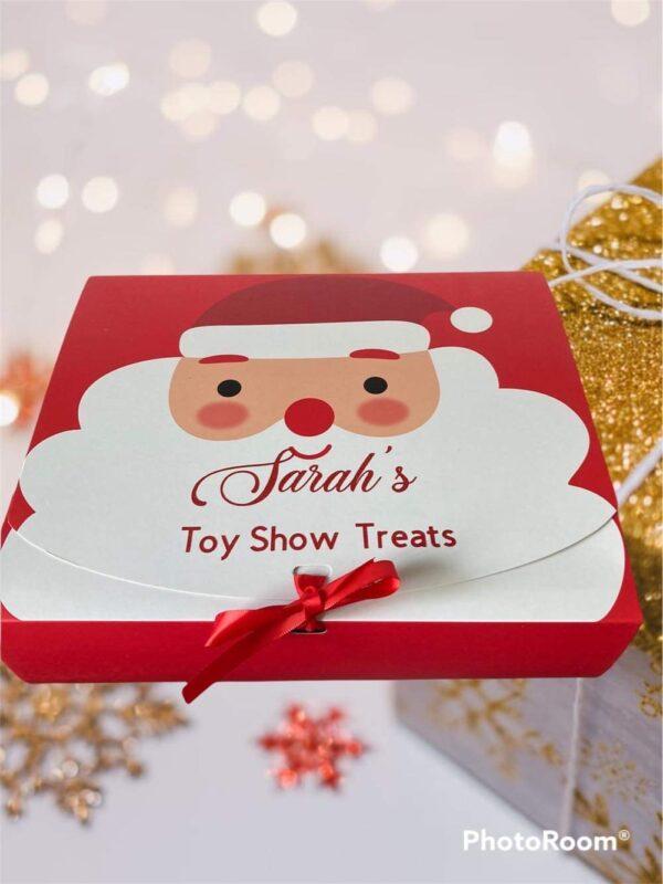 Santa box large xmas background