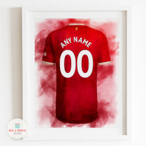 Man Utd Jersey Print Example
