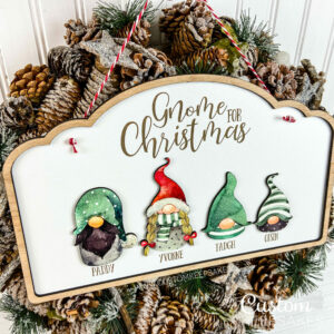 XMS002 - Gnome For Christmas Family Sign 4