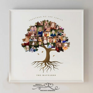 Family Tree Roots Collage
