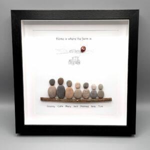 Pebble Art/ Birthd/Birthday Gift for a Farmer