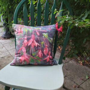 Fuschia cushion