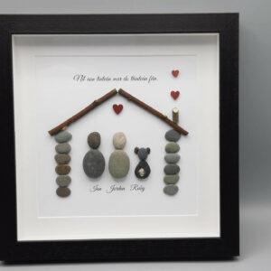 Personalised Pebble Art/Níl aon tinteán mar do thinteán fein