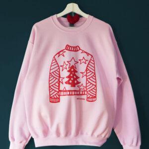 **PRE-SALE** 'The Crimbo Jumper' Sweatshirt - Pale Pink