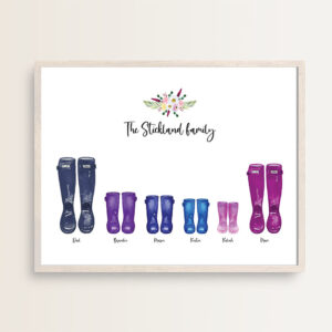 Just My Type Welly Print