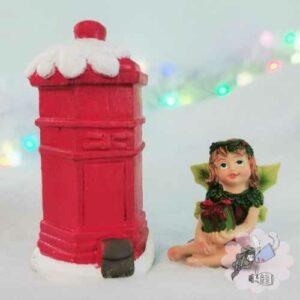 christmas fairy door mail box