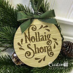 CD029 - Nollaig Shona Engraved Deco 2
