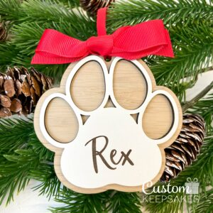 CD015 - Engraved Paw Deco