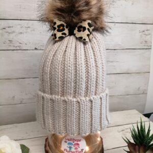 Hollis Beige Leopard Bow Hat resized