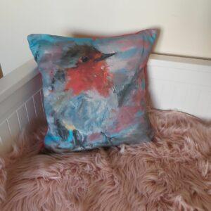 Farm- Robin cushion fleece