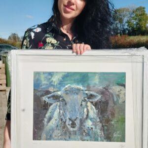 Kim holding sheep