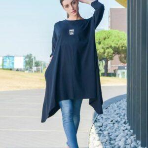 Black long cotton dress