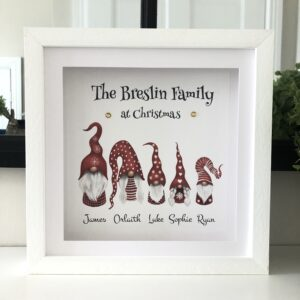 As Cute as a Button Personalised Framed Prints gnomes