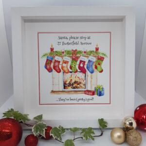 multicolour stocking santa stop